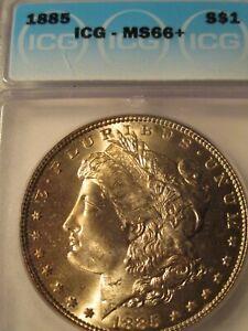 1885 MORGAN SILVER DOLLAR ICG MS66+