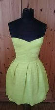 PROM DRESS River Island Size 10 Bright Lime/Yellow with Sweetheart Neckline!