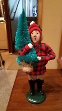Byers Choice 1991 Boy With Christmas Tree Signed