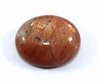 42.80 Ct Natural Sun stone Loose Gemstone 20.8X25.5mm Oval Cabochon S259