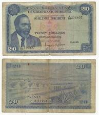 Kenya : 20 Shillings 1971