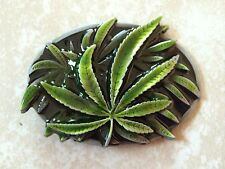 Marijuana Leaf Belt Buckle - Cannabis Weed Pot