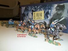 BRITAINS 17379 UNION INFANTRY SIX HORSE ARTILLERY GUN LIMBER + CREW FIGURE SET