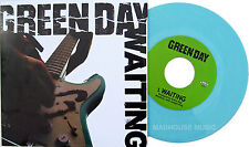 """GREEN DAY 7"""" Waiting CLEAR BLUE Vinyl Limited Edn. / Maria - LIVE 2014 Official"""