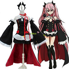 Japanese Anime Seraph of the end Lolita Krul Tepes Cosplay Costume Suit
