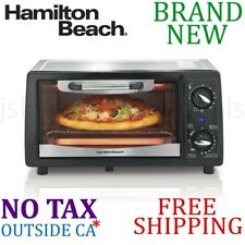*New* Hamilton Beach 4-Slice TOASTER OVEN w Bake Pan Adjustable Temp Timer Auto