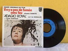 """IL A PAS DE FUMEE SANS FEU D' ANDRE CAYATTE SOUNDTRACK BY ADAGIO ROYAL 7"""" FRENCH"""