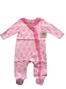Juicy Couture Girl Layette Baby Girls Long Sleeve Footies Romper 3-6 Months