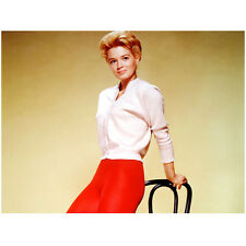 Angie Dickinson Leaning Back in Red Tights and White Top 8 x 10 inch photo