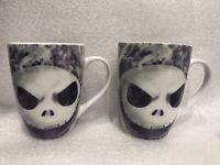 Set Of 2 Tim Burton Disney's The Nightmare Before Christmas Jack Coffee Tea Mug