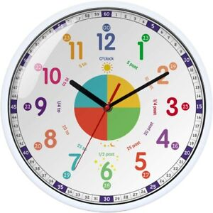 Time Teacher Wall Clock Learn to Tell The Time-Educational Toys-Kids Wall Decor