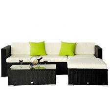 Rattan Patio Furniture Lounger Sofa Stool Set Outdoor Garden Wicker Conservatory