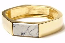 Gold Tone / Marble Hinged Bangle Bracelet by Banana Republic NEW With tag $49.50