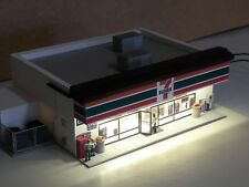 Ho scale structures buildings built up, 7 eleven built and ready