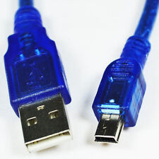 Blue Short USB 2.0 A Male to Mini 5 Pin B Male Data Charging Cable - 30CM 1pc FB