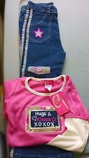 NWT GIRLS HUGS & KISSES BOUTIQUE OUTFIT SET Sz 6