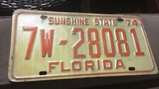 1974 74 FLORIDA FL LICENSE PLATE Sunshine State Orange County Vintage