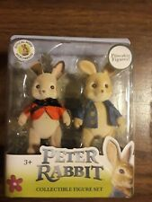 Peter Rabbit Collectible Figure Set Official Movie 2018 Poseable Peter & Flopsy