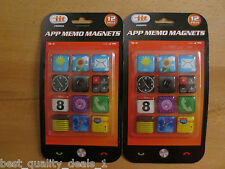 Various iit App Memo Magnets (24 Magnets Total, Each Piece 0.75 x 0.75 inches)