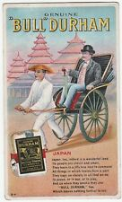 RARE Orig Advertising Postcard c 1910 Bull Durham Smoking Tobacco Japan card