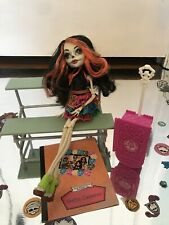 Monster High Skelita Calaveras Doll Scaris City of Frights USED