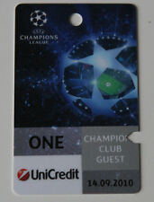 Ticket pass for collectors CL FC Copenhagen - Rubin Kazan 2010 Denmark Russia