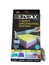 New listing New Ezstax Tshirt Organizing System 18 Pack Interlocking Plastic Storage Travel
