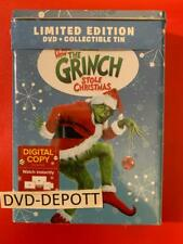 How The Grinch Stole Christmas Dvd + Digital & Limited Edition Collectible Tin