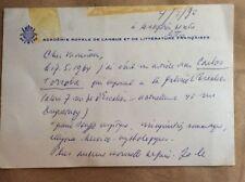 LETTRE MANUSCRITE STÉPHANE REY (1910-2002)...THOMAS OWEN...GERALD BERTOT...