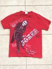 Batman Dark Knight Joker T Shirt Red Adult Size S Small Heath Ledger