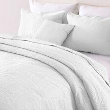 3-Piece Embossed Flower Quilt Set Oversize Bedspread Bedding Set Twin Queen King