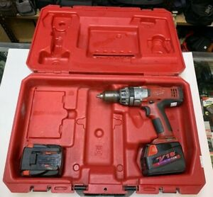 MILWAUKEE CORDLESS HAMMER DRILL 18V LITHIUM ION V18 WITH CASE POWER TOOL TOOLS