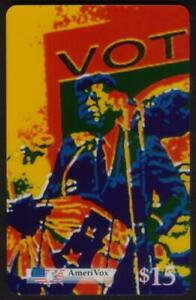 $15. John F. Kennedy Campaigning VOT. Artistic Colors Vert Card PROOF Phone Card