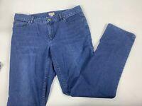 J Jill Denim Slim Boyfriend Straight Leg Blue Jeans Cotton Blend Stretch Size 8