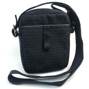CHRISTIAN DIOR Homme logo Pochette Shoulder Bag Canvas Black/Silver