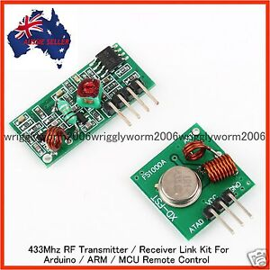 433Mhz RF Transmitter / Receiver Link Kit For Arduino/ARM/MCU Remote Control