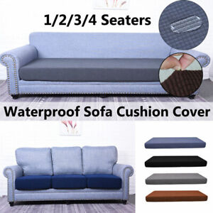 Waterproof 1-4 Seats Stretchy Sofa Seat Cushion Cover Couch Slipcovers Protector