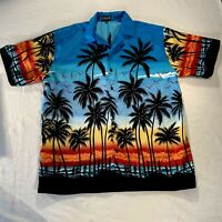 Ferugini Men's Hawaiian Short Sleeve Button Down shirt SZ XXL 2XL