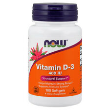 La vitamina D-3, 400iu X 180 Cápsulas blandas-Now Foods D3