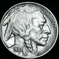 1937 Buffalo Nickel Great Details . A41-369
