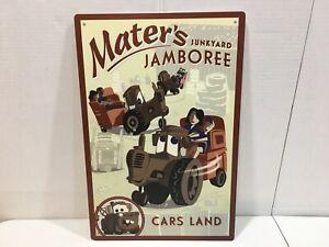 Authentic Disneyland Cars Land Mater's Junkyard Jamboree Attraction Metal Sign