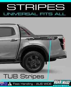 TUB 4x4 Stripes Hilux DMAX Ranger COLORADO Navara BT50 LDV GWM RAM Amarok TRITON