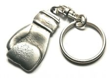 Boxing Glove KeyRing Hand Crafted Pewter Key Ring in pouch Gift Idea 35mm