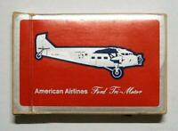 Complete Vintage Boxed Deck of American Airlines Cards Ford Tri Motor Plane EX/F