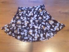 Ladies A-line Patterned Skirt In Black, Cream, Grey & Ochre Size 12 Next
