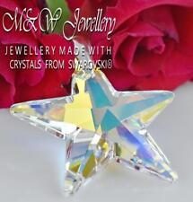925 Silver Large Pendant Crystals from Swarovski® * STAR * 40mm CRYSTAL AB