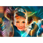 """ACEO Art Card Signed Print (2.5"""" x 3.5"""") Fractals At Tiffany's (Audrey Hepburn)"""