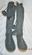 Victorias Secret Pink Cable Knit Mukluk Sweater Boots ANGORA NWT S 5 - 6