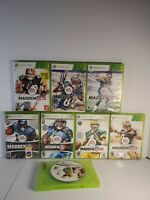 Xbox 360 Madden NfL Lot -8 games-07 08 09 10 11 12 13 15