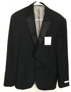 Calvin Klein Mens Slim Fit Tuxedo Jacket, Black, 40L